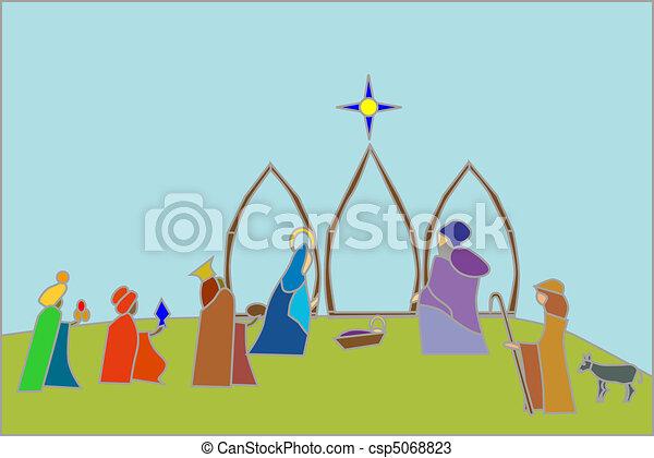 nativity scene - csp5068823