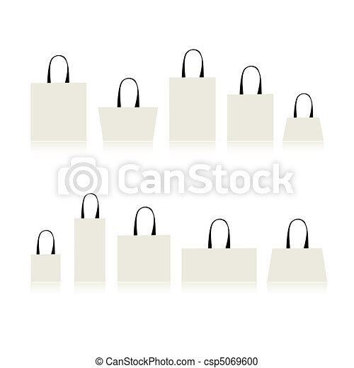 Shopping bags isolated for your design - csp5069600