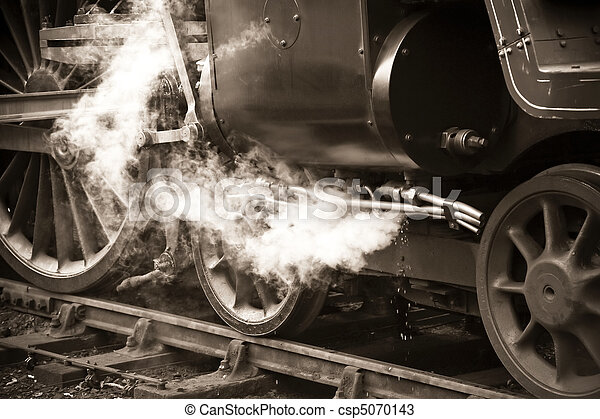 vintage steam train - csp5070143