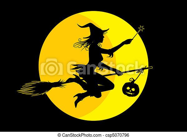 Halloween witch - csp5070796