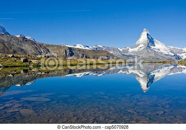 Mass tourism at the Matterhorn - csp5070928