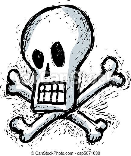 Humorous skull - csp5071030