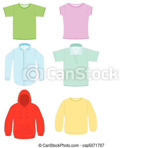 Clothing vector illustration set. - csp5071707