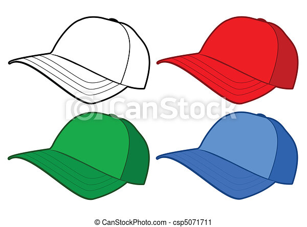 Baseball cap vector template. - csp5071711