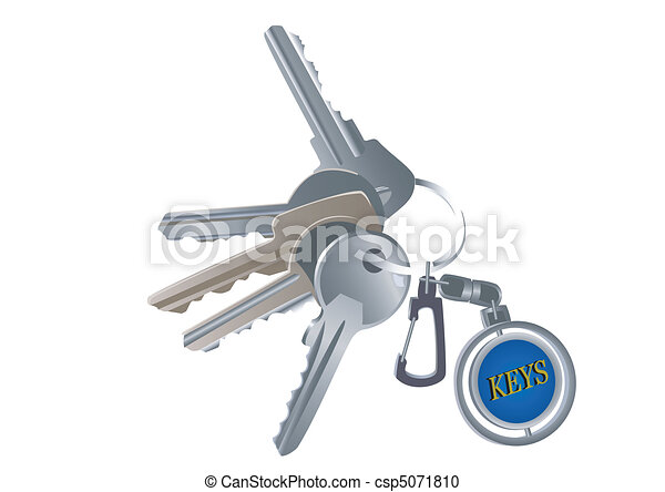 Set of various keys on a charm - csp5071810