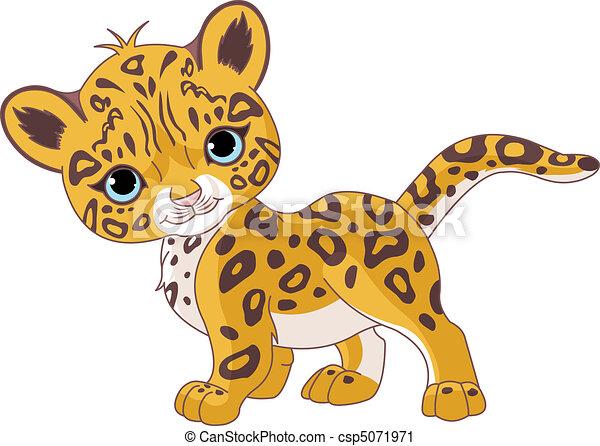 Cute Jaguar Cub - csp5071971