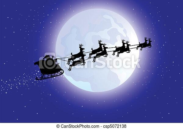 Santa's sleigh - csp5072138