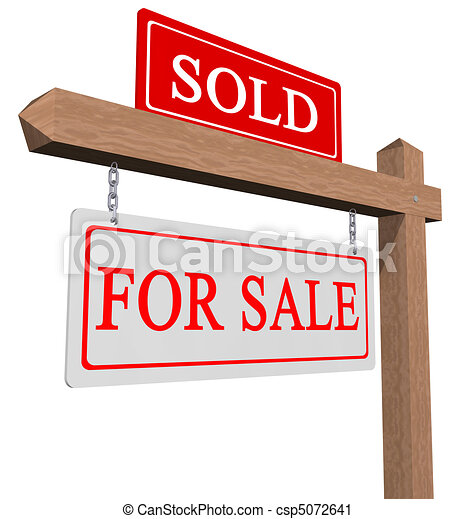 For sale and sold sign - csp5072641