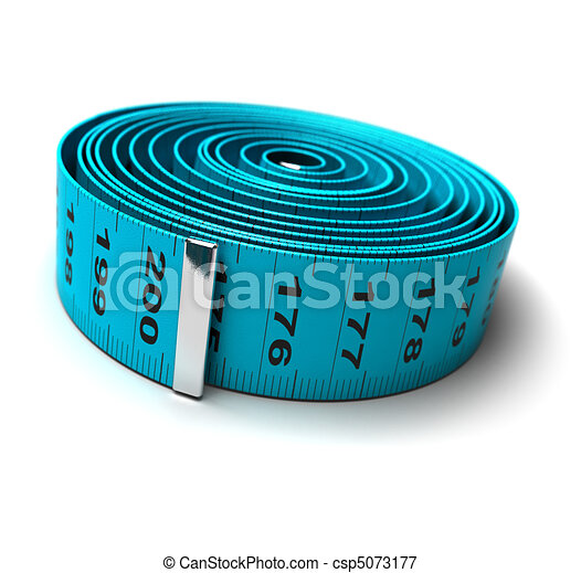 plastic tape measure - weight loss - diet - csp5073177