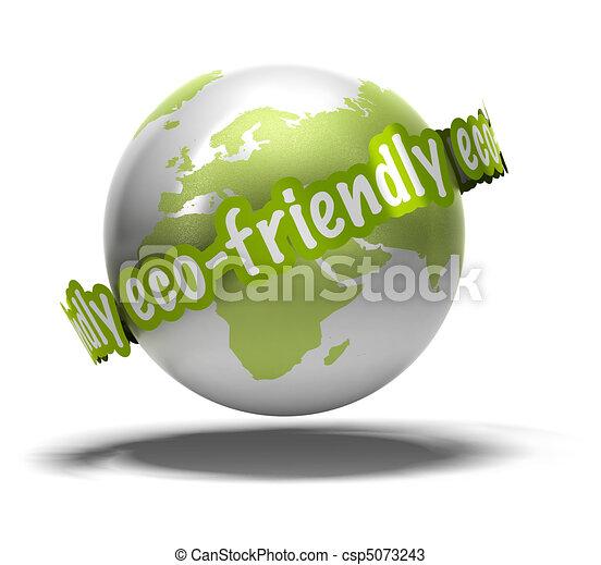 eco friendly earth - csp5073243