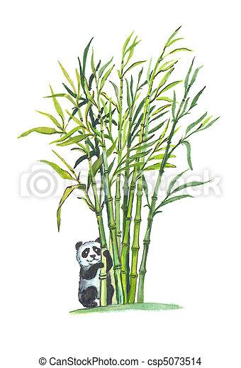 Dessin de g ant panda dans bambou for t csp5073514 recherchez des illustrations clip art - Comment se debarrasser definitivement des bambous ...