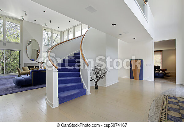 Foyer in modern home - csp5074167