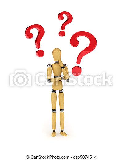 Confused mannequin - csp5074514