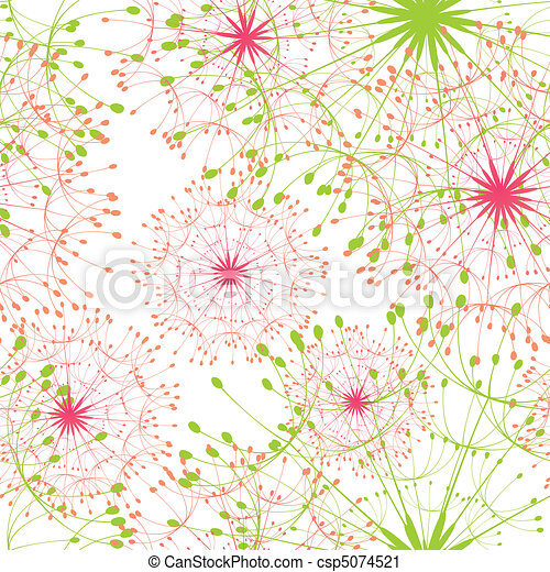 Abstract dandelion seamless pattern - csp5074521