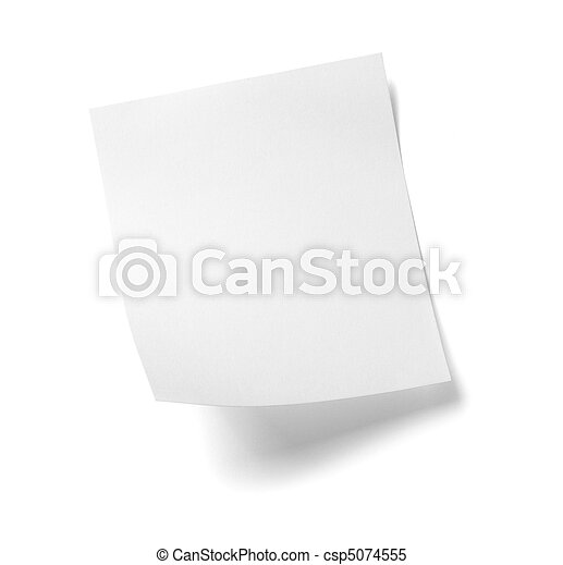 white note paper message label business - csp5074555