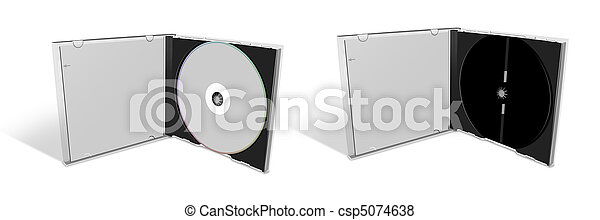 Blank CD in a CD Case and empty case - csp5074638
