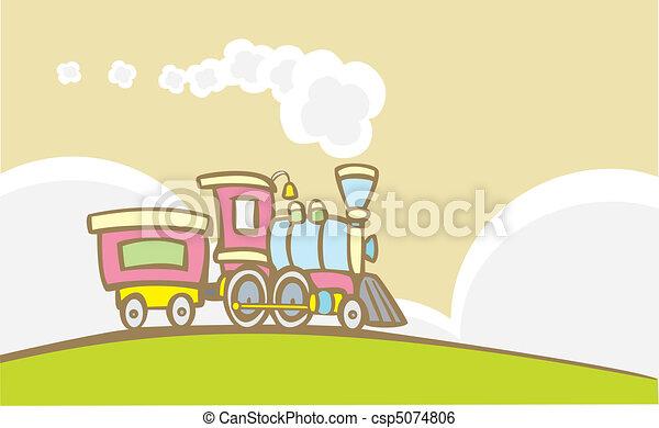Retro Toy Train - csp5074806