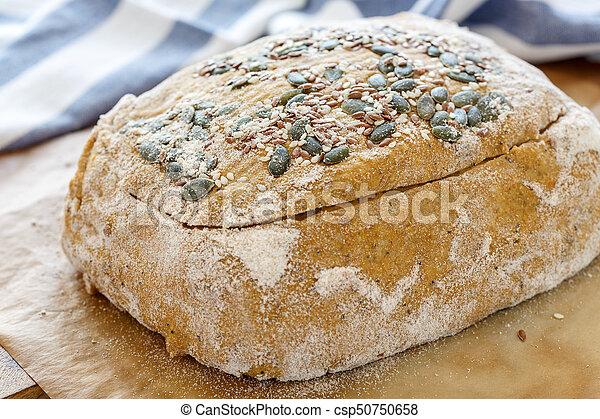 Billet dough for baking pumpkin bread. - csp50750658
