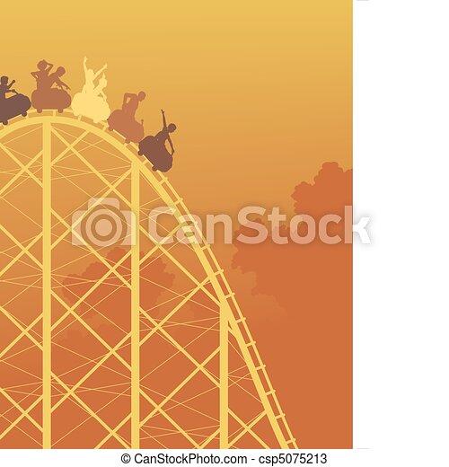 Rollercoaster ride - csp5075213