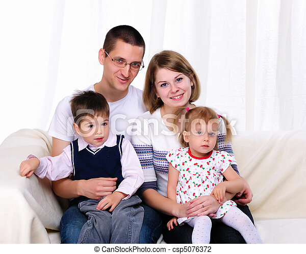 Happy family spending time together - csp5076372