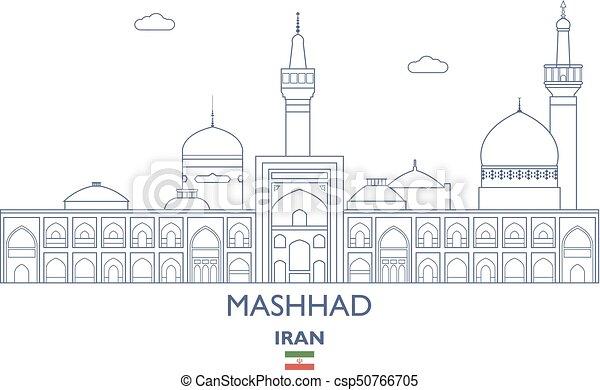 Mashhad City Skyline, Iran - csp50766705