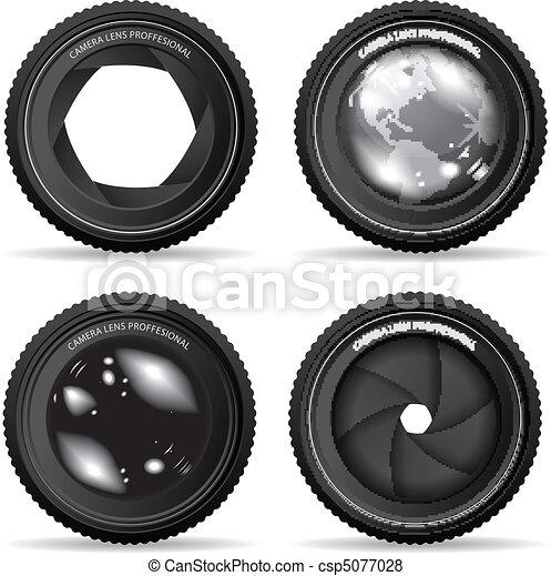 Vector illustration of camera lens - csp5077028