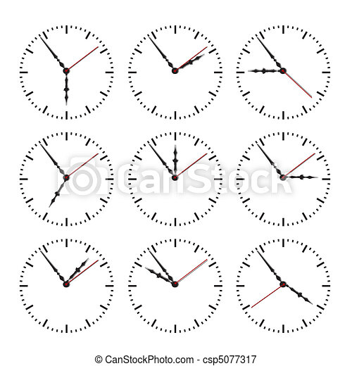 Dial of hours.Vector illustration - csp5077317