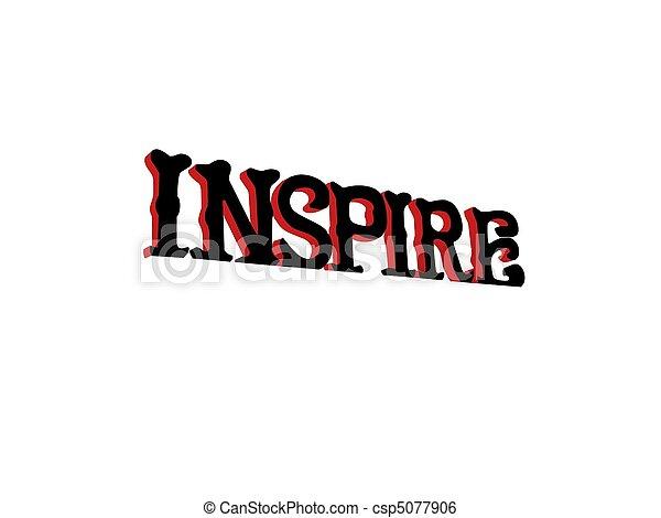 Inspire Inspirational Sign - csp5077906