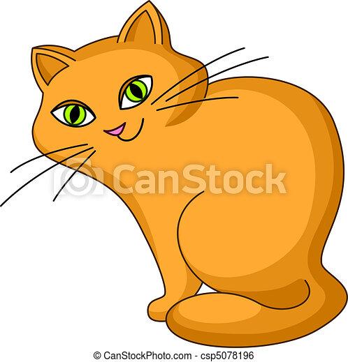 Cat kind sits - csp5078196