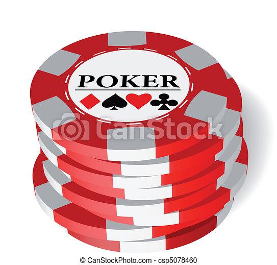 Gambling chips - csp5078460