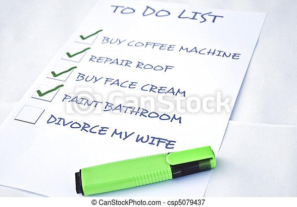 Divorce my wife - csp5079437