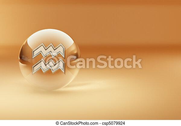 Aquário, Astrológico, Símbolo - csp5079924