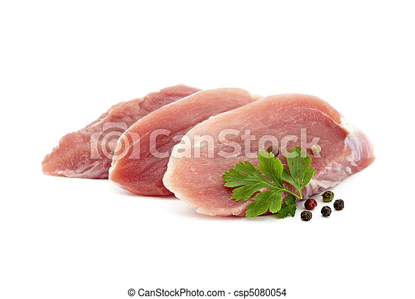 Raw pork with parsley and pepper - csp5080054