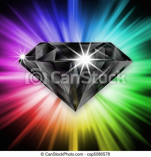 Black diamond over rainbow - csp5080578