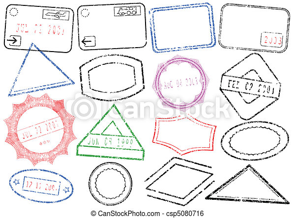Passport or post stamp set. - csp5080716