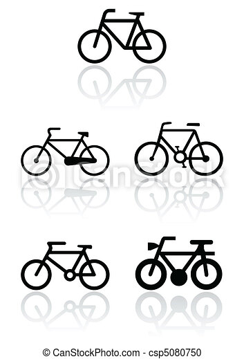 Bike symbol illustration set. - csp5080750
