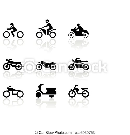 Motorbike symbol vector set. - csp5080753