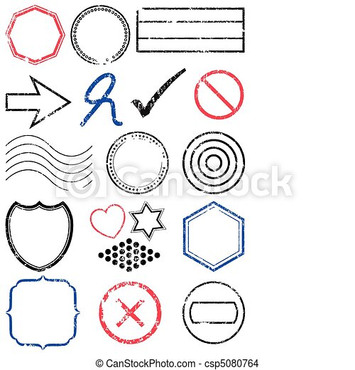 Stamp vector illustration set. - csp5080764
