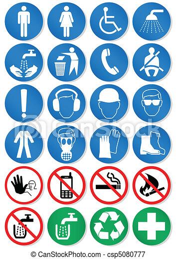 International communication signs. - csp5080777