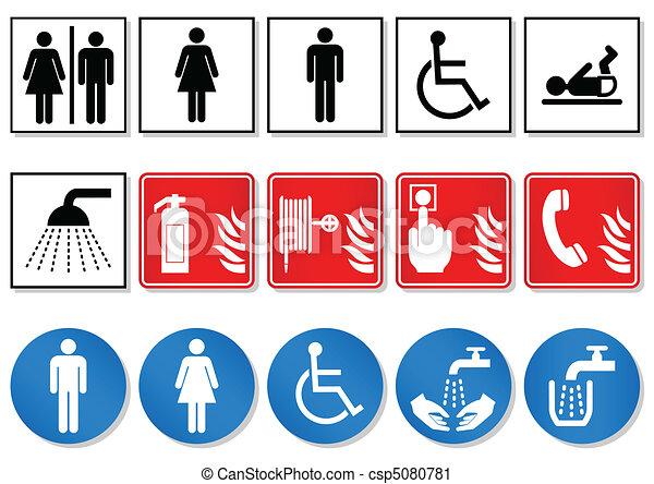 International communication signs. - csp5080781