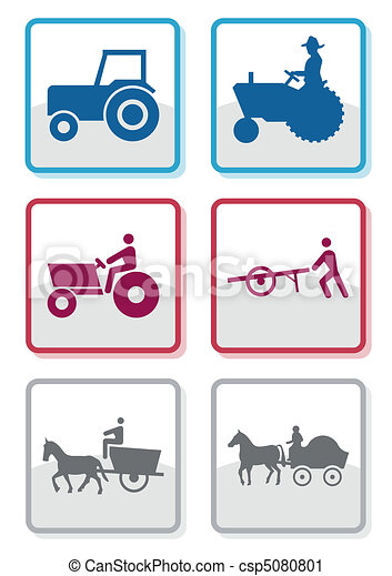 Farmer symbol vector set. - csp5080801
