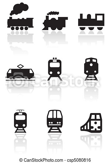 Train symbol vector set. - csp5080816