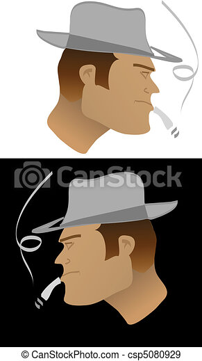 tough guy with hat - csp5080929