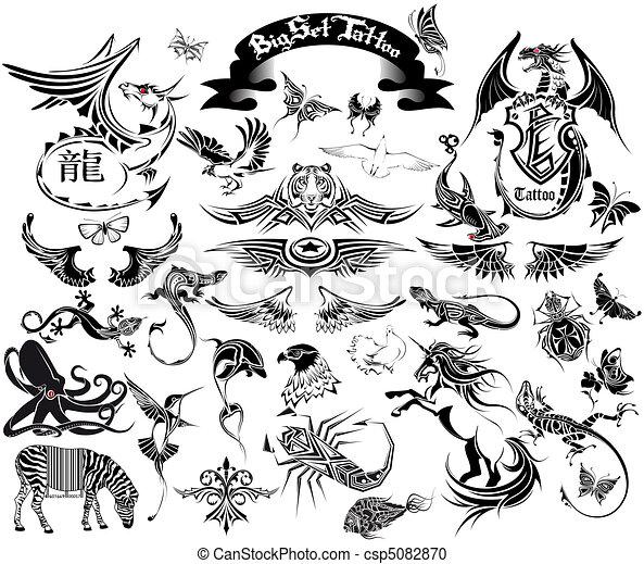 big set tattoo - csp5082870