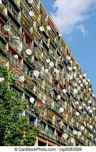 Satellite dishes in Berlin - csp5083569