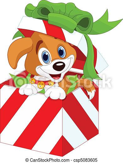 cute christmas present clipart