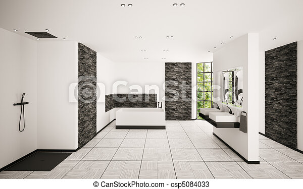 Tekeningen van interieur badkamer moderne render 3d for Badkamer plannen in 3d