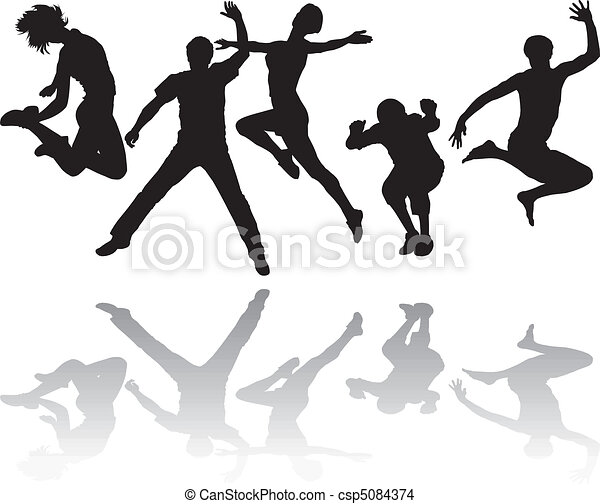 People jumping - csp5084374