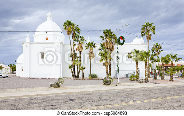 Immaculate Conception Church, Ajo, Arizona, USA - csp5084893