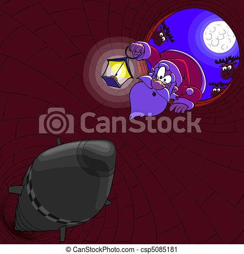 Santa Claus and a wrong stovepipe - csp5085181